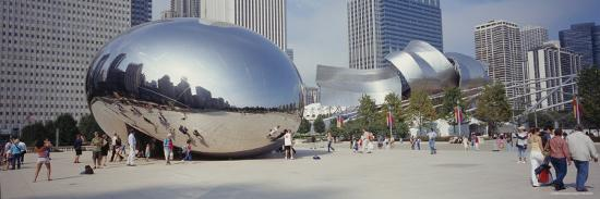People in a Park, Cloud Gate, Millennium Park, Chicago, Illinois, USA--Photographic Print