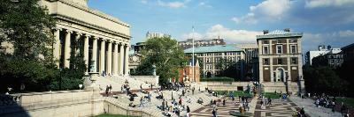 People in Front of a Library, Library of Columbia University, New York City, New York, USA--Photographic Print