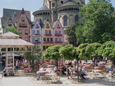 People in Square, Cologne, North Rhine Westphalia, Germany, Europe-Hans Peter Merten-Photographic Print
