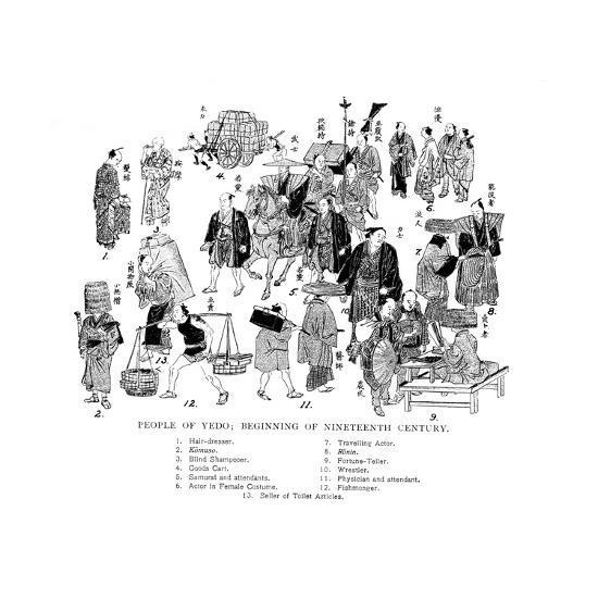 People of Edo, Japan, C1800--Giclee Print