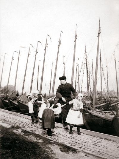 People of Marken Island, Netherlands, 1898-James Batkin-Photographic Print