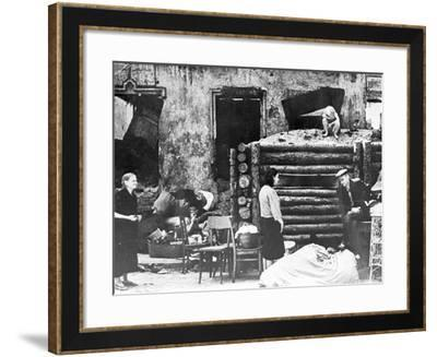 People of Minsk in their Ruined Houses, 1944--Framed Photographic Print