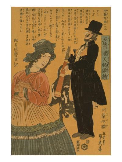 People of the Five Nations - Dutch (Gokakoku Jinbutsu Zue - Orandakoku)-Sadahide Utagawa-Art Print