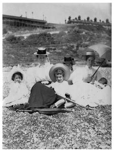 People on a Beach, C1890-1909
