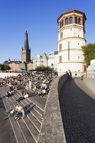 People on Stairs by the Rhine-Markus Lange-Photographic Print