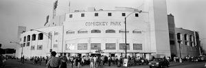 People Outside a Baseball Park, Old Comiskey Park, Chicago, Cook County, Illinois, USA
