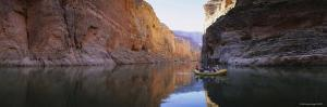 People Rowing a Raft in the Colorado River, Grand Canyon National Park, Arizona, USA