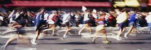 People Running in Marathon, New York City, New York, USA