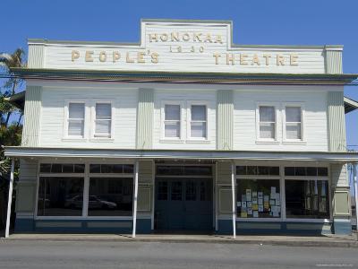 People's Theatre, Honokaa, Island of Hawaii (Big Island), Hawaii, USA-Ethel Davies-Photographic Print