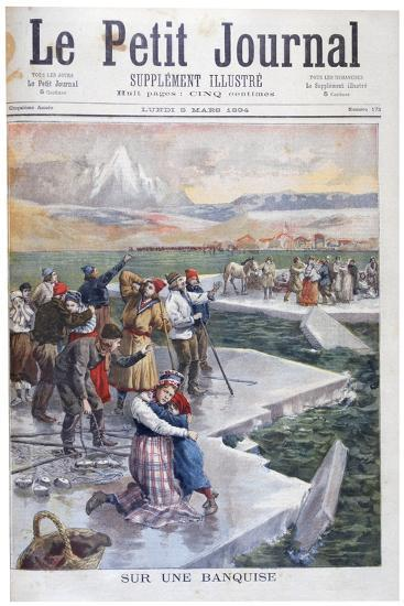 People Stranded on Ice Floes, Finland, 1894--Giclee Print