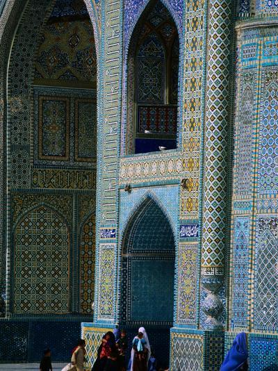 People Visiting Shrine of Hazrat Ali (Blue Mosque), Mazar-E Sharif, Afghanistan-Stephane Victor-Photographic Print
