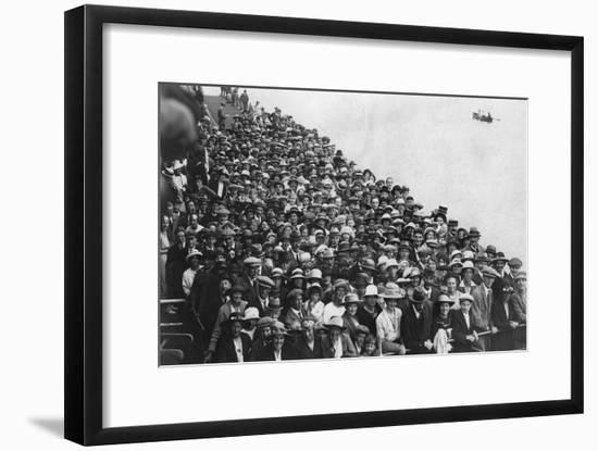 People Waiting to Go on a Boat Trip, Bournemouth Pier, August 1921--Framed Giclee Print