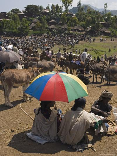 People Walk for Days to Trade in This Famous Weekly Market, Ethiopia-Gavin Hellier-Photographic Print