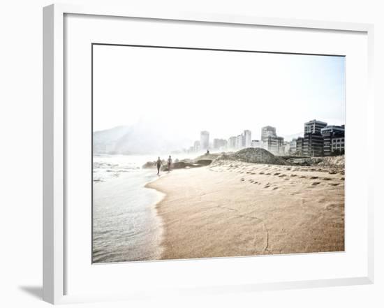People Walk on Ipanema Beach as the Sun Sets-Kike Calvo-Framed Photographic Print