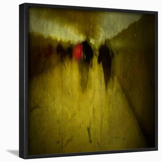 People Walking Along A Tunnel Framed Photographic Print By Luis Beltran Art Com