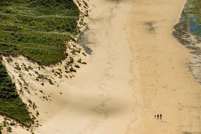 People Walking on Five Finger Strand in Donegal, Ireland-Chris Hill-Photographic Print