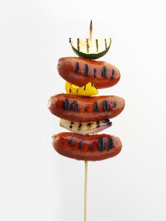 Grilled Sausage Kebab