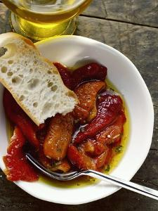 Peperonata (Red Peppers Marinated in Oil, Italy)