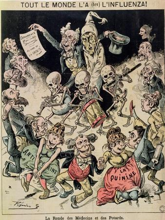 Caricature of the Influenza Epidemic of 1820, circa 1889
