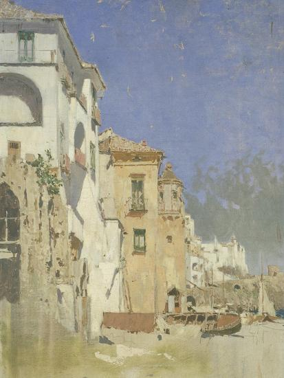 Pepinella Palace in Amalfi, Pietro Scoppetta--Giclee Print