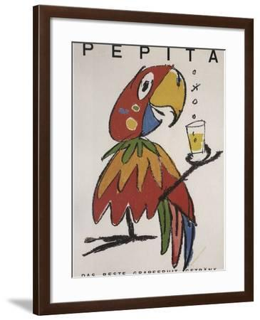 Pepita the Parrot-Vintage Apple Collection-Framed Giclee Print