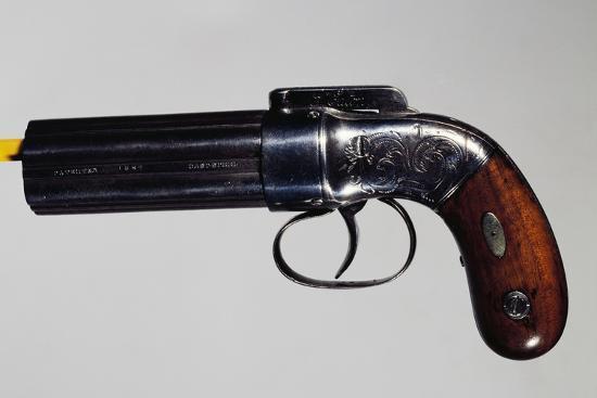 Pepperbox Pistol, Six-Barreled, Nipple Mechanism--Giclee Print