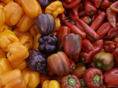Peppers for Sale at Farmer's Market, Marin, California--Photographic Print