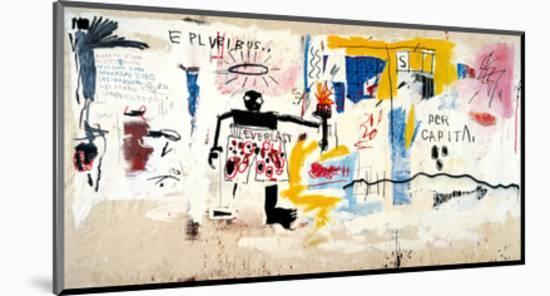 Per Capita, 1981-Jean-Michel Basquiat-Mounted Giclee Print
