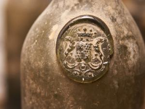 Antique Wine Bottle with Molded Seal, Chateau Belingard, Bergerac, Dordogne, France by Per Karlsson