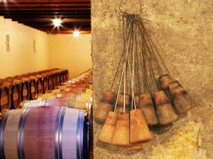 Barrel Cellar for Aging Wines in Oak Casks, Chateau La Grave Figeac, Bordeaux, France by Per Karlsson