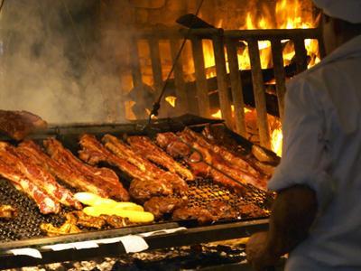 Charcoal Grill in Restaurant El Palenque, Mercado Del Puerto, Montevideo, Uruguay