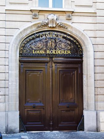 Entrance to Champagne Louis Roederer, Reims, Champagne, Marne, Ardennes, France