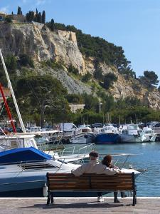 Fishing and Leisure Boats Moored at the Key Side, Harbour in Cassis Cote d'Azur, Var, France by Per Karlsson