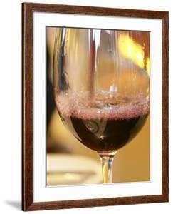Glass of Red Wine, Restaurant Red at Hotel Madero Sofitel, Puerto Madero, Buenos Aires, Argentina by Per Karlsson
