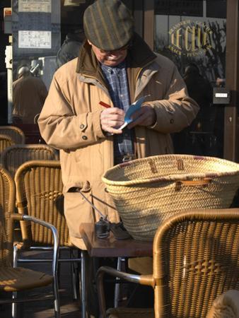 Man at Truffles Market in Carpentras, Vaucluse, France