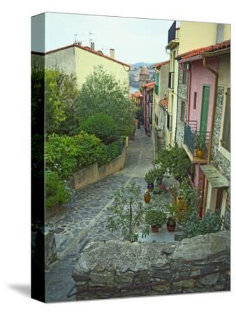 Narrow Cobblestone Street, Fishing Village, Collioure, Languedoc-Roussillon, France