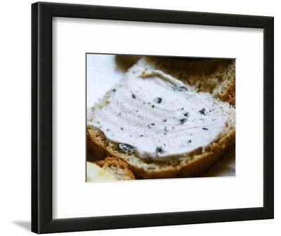 Piece of Bread with Truffles Butter, Truffiere De La Bergerie (Truffiere) Truffles Farm