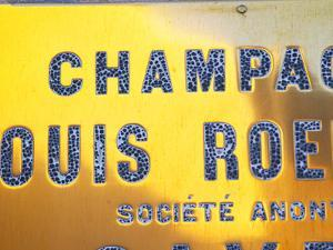 Polished Brass Sign at Winery of Louis Roederer, Reims, Champagne, Marne, Ardennes, France by Per Karlsson