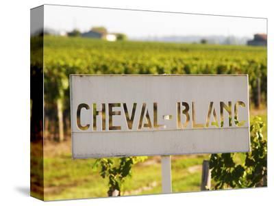 Sign for Chateau Cheval Blanc, Saint Emilion, Bordeaux, France