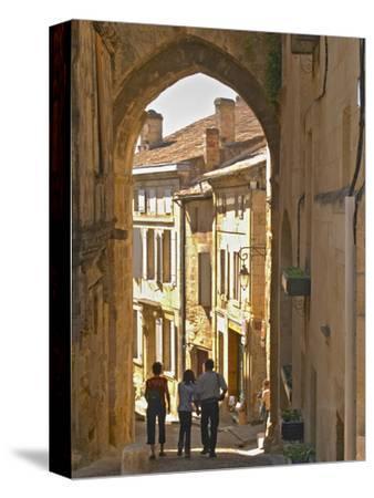 Street in Old Medieval Village of Saint Emilion, Bordeaux, France