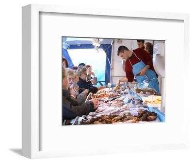 Street Market, Merchant's Stall with Fish, Sanary, Var, Cote d'Azur, France