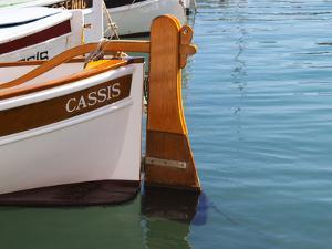 Traditional Boat with Wooden Rudder, Cassis, Cote d'Azur, Var, France by Per Karlsson