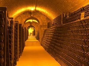 Underground Wine Cellar, Champagne Francois Seconde, Sillery Grand Cru by Per Karlsson