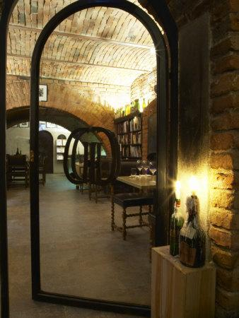 Wine Book Library at Kallaren Grappe Wine Storage Cellar, Stockholm, Sweden
