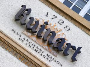 Winery Sign, Champagne Ruinart, Reims, Marne, Ardennes, France by Per Karlsson