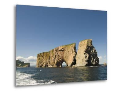 Perce Rock, Gaspe Peninsula, Province of Quebec, Canada, North America-Snell Michael-Metal Print