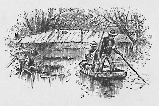 'Perch-Fishing on the Lake', 1883-Unknown-Giclee Print