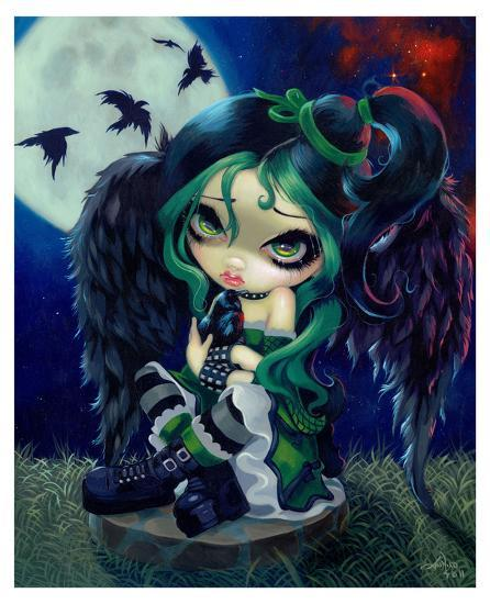 Perched and Sat and Nothing More Art Print by Jasmine Becket-Griffith | Art.com