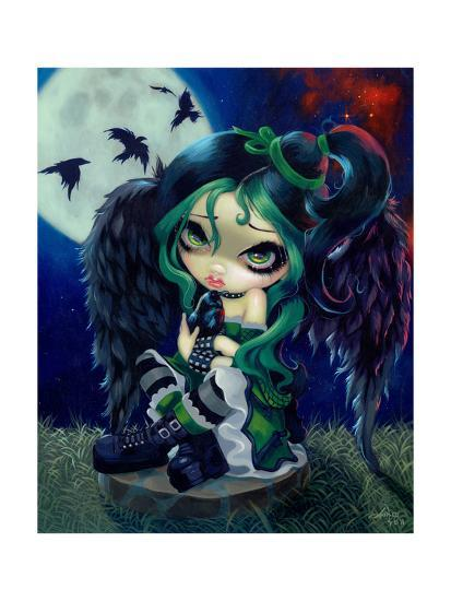 Perched and Sat and Nothing More-Jasmine Becket-Griffith-Art Print