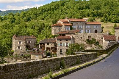 Perched Medieval Village, Allier River, Auvergne, Haute Loire, France, Europe-Guy Thouvenin-Photographic Print